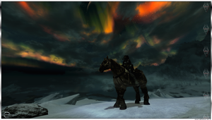 Orc Warrior - Top of the world - Skyrim by Jace-Lethecus
