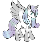 Inky Winter alicorn ref by theWeaverofTales