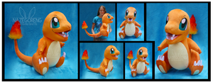 Lifesize Charmander Custom Plush by Nazegoreng