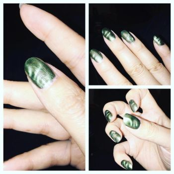 Green Marbled Magnetic by ClaudiaYvette