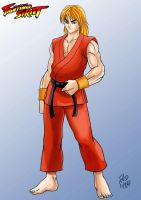 Ken Masters - Fighting Street by RodWolf