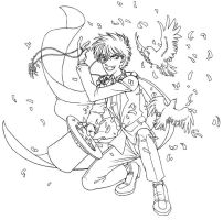 Kaitou Kid - lineart by Hiyath