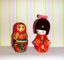 Dolls chat- exchanging culture by DeadPrincessa