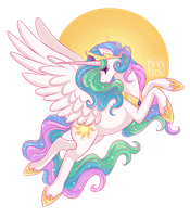 Princess Celestia by NoxxPlush