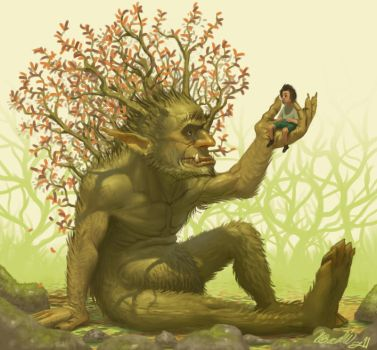 A child and his monster by K-Bladin