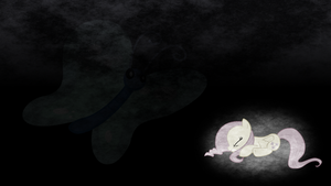 This Butterfly Scares Fluttershy - Wallpaper by TheSharp0ne