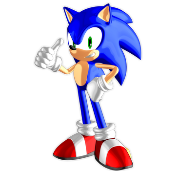 Xenoverse Style Sonic by Nibroc-Rock