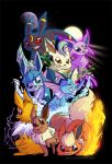 Eeveelutions by jiggly