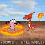 Courage meets Charmeleon by diasapacibles