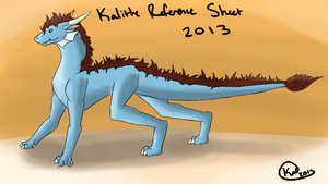 Kalithe Reference Sheet 2013 by Kalithe