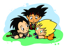 Goku's Family by Budgies