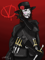 V for Vendetta-AT by irishimo