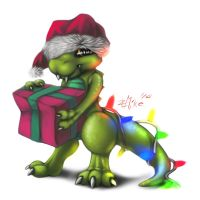 Merry X-Mas Lizard doodle thing! by ZLMike
