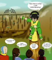 n00b Bending: Toph by Cherry-sama