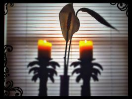 Peace Lilly and Palm Trees by Tickle-Your-Fancy