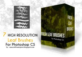 Fresh leaf brushes set for photoshop by smilinweapon