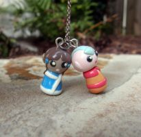 Aang and Katara Necklace by Fliegs