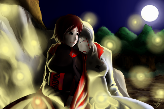 After Battle- Ruby and Weiss by ARSONicARTZ