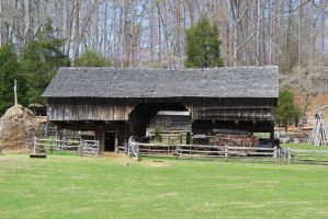Cantilever Barn - Museum of Appalachia by CrystalMarineGallery