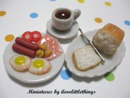 Miniature Breakfast Set by ilovelittlethings