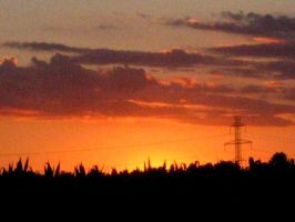 sunset in BFE by poeticwriter007