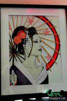 Mixed Media Geisha by SugiAi