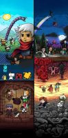 Video game characters fan art by Brainsause