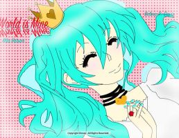 My first Miku Hatsune by NinjaRosa