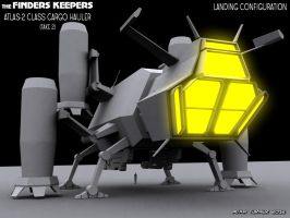 The Finders Keepers, version 2, landed position by Adam-Turner