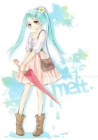 Hatsune Miku: Melt by cartoongirl7