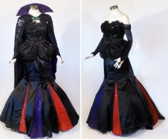 Designer Maleficent Cosplay Costume Evening Gown by glimmerwood