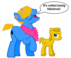 Pewdiepie and Stephano ponies by demonicpegasus