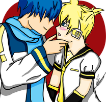 Kaito x Len by iRainbowMarkers