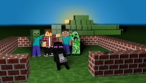 Best Friends - Minecraft Wallpaper by SterekCreations