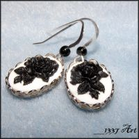 Gothic Bouquet Earrings by 1337-Art