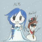 ALYS and Mooloid cosplaying Elsa and Olaf by FabzExecutableDrury