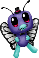 The Fabulously Moustachioed Sir Butterfree III by random-drawer-person
