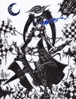 Black Rock Shooter fan art by bigdaddyEZ