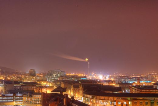 Nottingham at night by spowy123