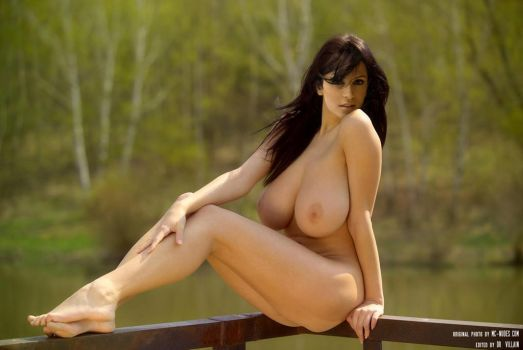 Denise Milani Nude By The Lake (Fake) by DrVillain
