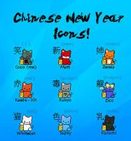 Chinese New Year Icons by coco-the-personer