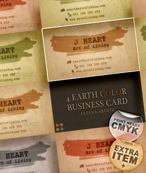 4 Earth Color Business Card by boeenet