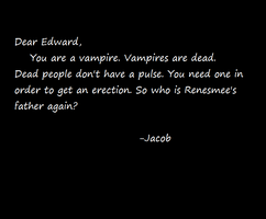 Dear Edward, From Jacob by Yaoi0Yuri0rules