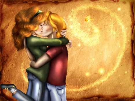 Ron and Hermione by PurpleMuffin