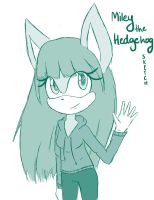 PC: Miley the Hedgehog - sketch by TheWhiteWolf09