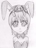 Bunny girl with... beanie baby by grunt211