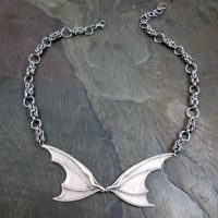 Bat Wing Byzantine Chainmaille Necklace by BittersweetLuna