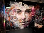 Portrait Mural With Skull and Roses by ART-BY-DOC