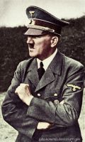 Adolf Hitler (in colour) 15 by Julia-Koterias