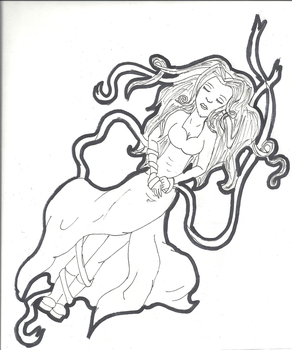 Entangled (Uncolored) by DeathAngel77611